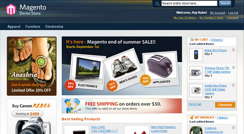 Professional Open Source E-Shop for Free with Magento