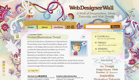 Web Designer Wall – Design Trend and Tutorials