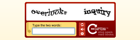 reCAPTCHA Prevent Spam and Help Digitize Books