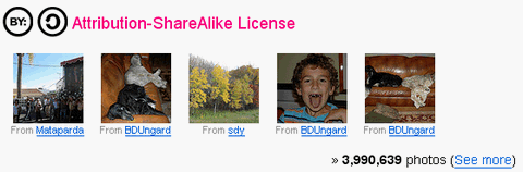Flickr – Fresh Photos under Creative Commons License