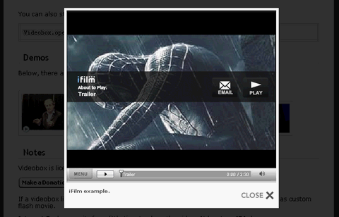 Videobox – Show Your Videos in Lightbox