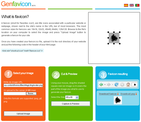 Genfavicon Generates Favicon For Your Websites Online