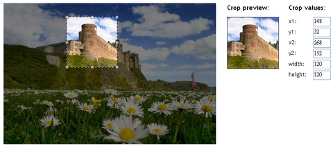 Javascript Image Cropper UI using Prototype & Scriptaculous