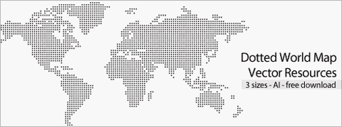 Free Dotted World Map Vector Resource in 3 Sizes | Web