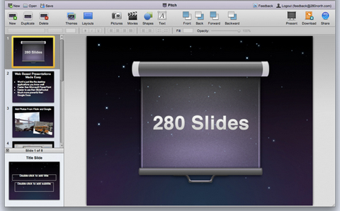 Create and Share Presentations Online with 280 Slides