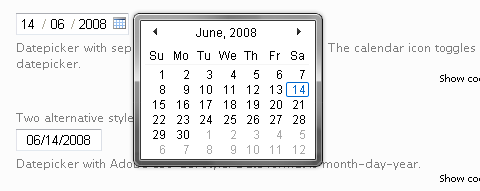 Vista-like Ajax Calendar