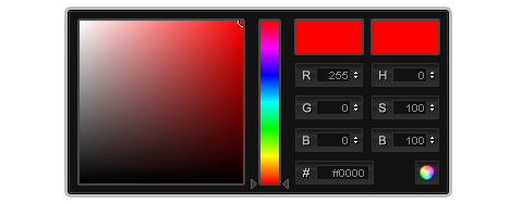 jQuery ColorPicker with Custom Skin
