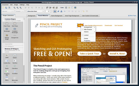 Pencil Project - Sketching and GUI Prototyping with Firefox