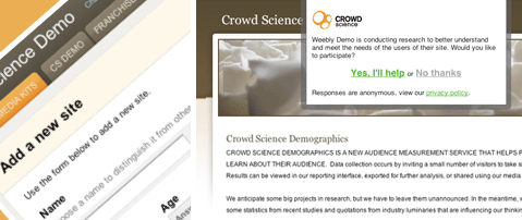 Audience Measurement Service from Crowd Science Demographics