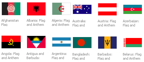 MSN Multimedia Center Countries Flags