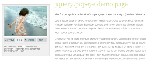 jQuery inline Lightbox Alternative