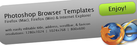 Free Photoshop Browser Templates