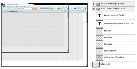 Photoshop Browser Templates