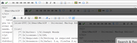 SmartMarkUp Universal Markup Editor