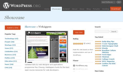 WebAppers WordPress Showcase