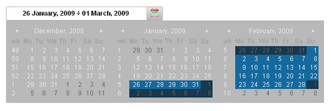 Date Picker jQuery Plugin to Fit in Your Web Application
