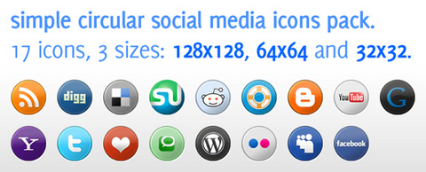 Free Social Media Icons Pack under Creative Commons