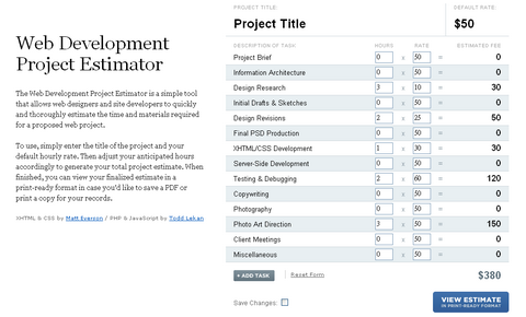 The Web Development Project Estimator for Freelancers
