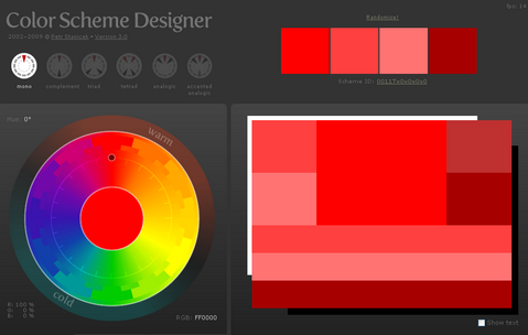 Color Scheme Designer Version 3.0