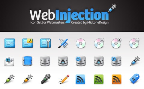 Web Injection Free Icon Pack for Webmasters
