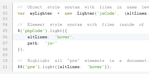 Free Syntax Highlighting Class Developed with MooTools