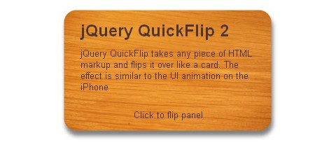 Flipping Like a Card with QuickFlip 2 jQuery Plugin