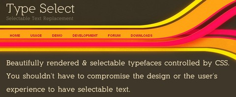 TypeSelect – Selectable Beautifully Rendered Typefaces