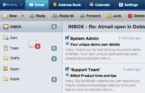 AtMail 6 Webmail Client + Email Server + Stunning Interface
