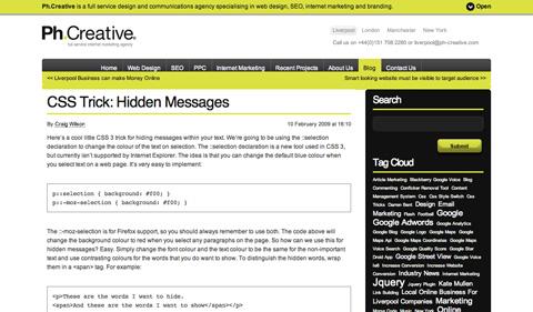csstrickhiddenmessages CSS3 y HTML5: Tutoriales y recursos para el nuevo diseño web