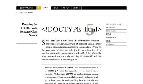 preparingforhtml5withsemanticclassnames CSS3 y HTML5: Tutoriales y recursos para el nuevo diseño web