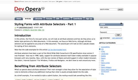 stylingformswithattributeselectors CSS3 y HTML5: Tutoriales y recursos para el nuevo diseño web