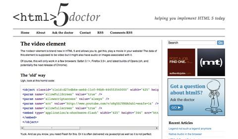 thevideoelement CSS3 y HTML5: Tutoriales y recursos para el nuevo diseño web