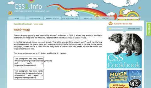 wordwrap CSS3 y HTML5: Tutoriales y recursos para el nuevo diseño web