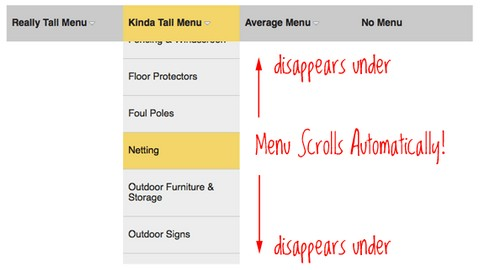 Accessible Very Tall Menus with jQuery and CSS | Web