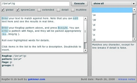 regular-expressions tool