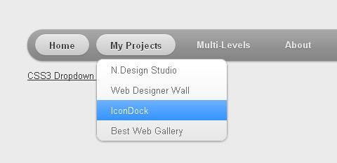 Mac-like Multi-level Dropdown Menu with CSS3