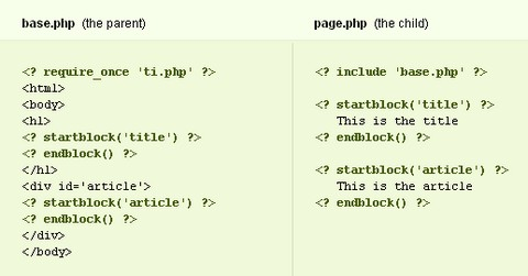 php-template