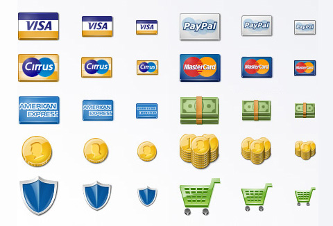 Free Payment Icon Set For E-Commerce Stores
