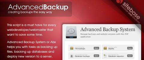 Advanced Backup System