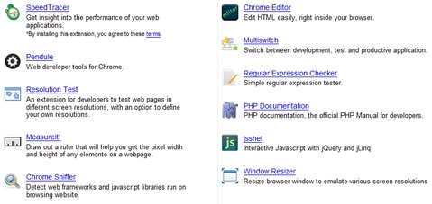 Featured Google Chrome Extensions for Web Developers