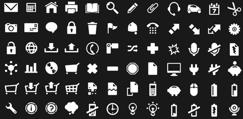 100 Fully Scalable Vector Pictograms / Icons