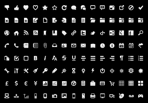 Free Wireframe Toolbar Icons for Interface GUI Designer