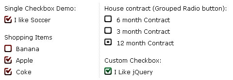 Stylize Radio Button & Checkbox with ezMark jQuery Plugin