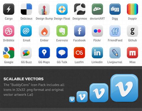 vector-social-icons