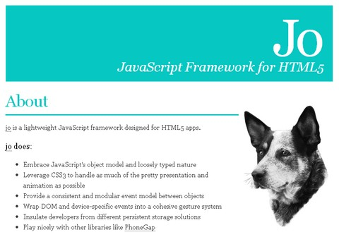 HTML5 Javascript Framework for Mobile Applications