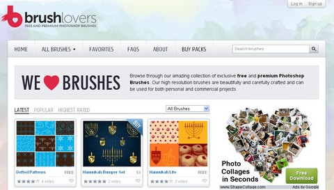 Free & Premium Photoshop Brushes on BrushLovers
