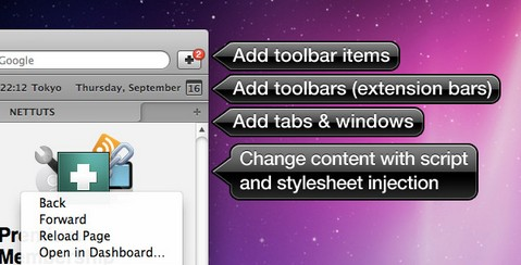 How to Create a Safari Extension using Extension Builder