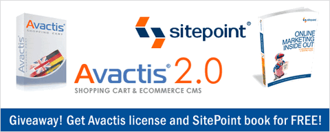 Avactis and Sitepoint 50 Licenses & Books Giveaway