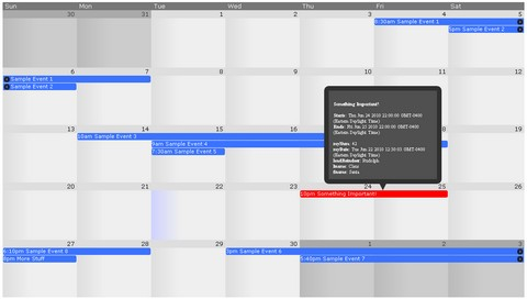 monket calendar demo,