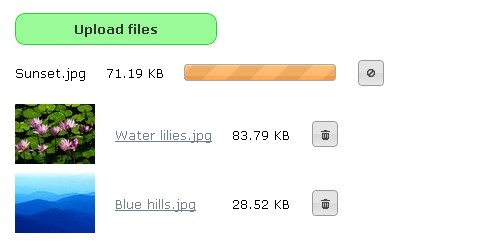 jQuery File Upload with Upload Progress Bar
